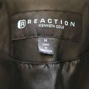 Kenneth Cole Reaction leather blazer